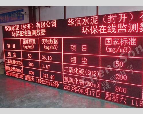 工厂污染物排队公示显示