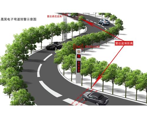弯道路段预警系统
