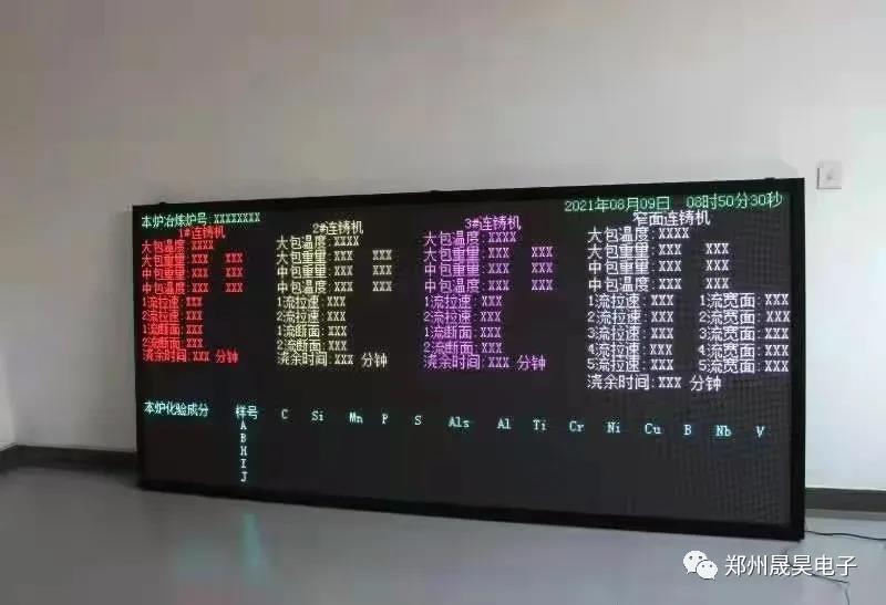 中铁集团冶炼车间生产看板投入使用